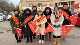 济南市口腔医院院外党支部志愿者进行志愿执勤