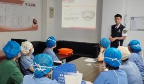 济南市口腔医院麻醉手术科进行安全生产消防培训