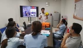 市口腔医院牙周黏膜科举行消防培训演练