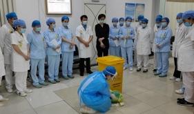济南市口腔医院舜耕院区举行医疗废物泄露应急演练