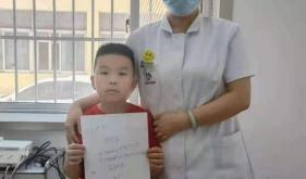 市口腔医院山大北路门诊医生优质服务收获小患者手写拼音表扬信